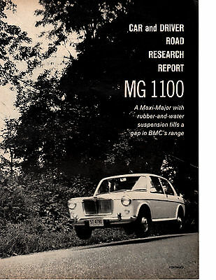 1963 Mg 1100  ~  Nice Original 6-Page Road Test / Article / Ad