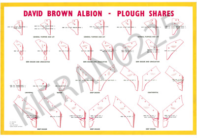 (A3) David Brown Case Poster Tractor Albion Plough Share Poster Brochure