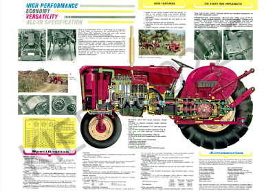 (A3) David Brown Case Poster Tractor 990 Implematic Brochure