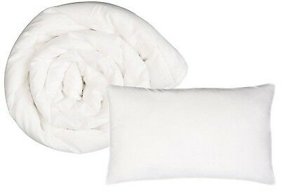 NEW Snug City Anti-Allergy 4.5 Tog Cot Bed Duvet and Cot Pillow Set - White