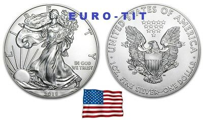 Piece    De   1   Dollar     Des    Usa     Eagle   2018       Argent   2018
