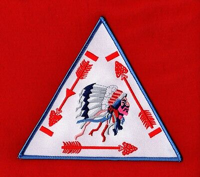 VIGIL TRIANGLE OA Jacket Back Patch Order of the Arrow Boy Scout WHITE Twill