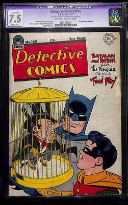 DETECTIVE COMICS #120 (1947) CGC 7.5 VF- (OWW) Penguin Cover (cleaned)