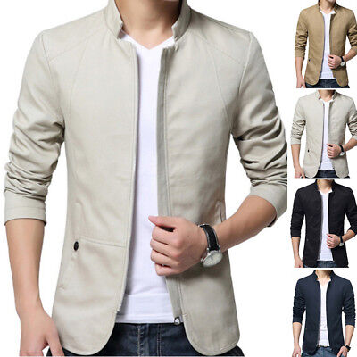Men Tops Sale Casual Slim Fit Business Formal One Button Suit Blazer Coat Jacket