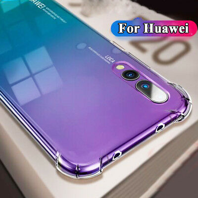 Cover Case For Huawei P20 Pro Crystal Clear Shockproof Silicone Gel Reinforced