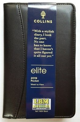 Collins 2018 Elite Manager Diary Week To View 260 x 190mm Black 1190V 2018