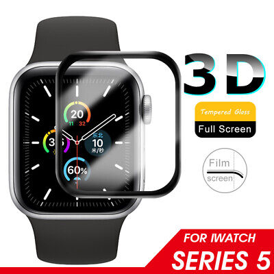 3D Full Covered Tempered Glass Screen Protector For Apple Watch Series 4 3 2 1