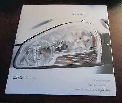 2000 Infiniti Q45 CD-ROM excite Brochure THE NEW Q Nissan North