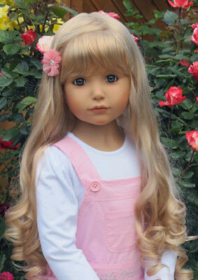 Masterpiece Dolls  Emily Blonde Wig, Fits Up To a 21-inch Head