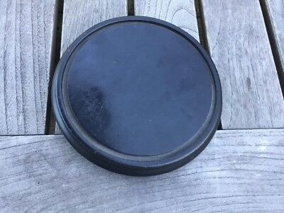 Antique Vintage Black Solid Wood Stand For A Glass Dome Dark Wood