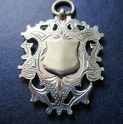 Lovely  Antique  Double sided sterling silver  Fob/pendant  B/ham 1915.