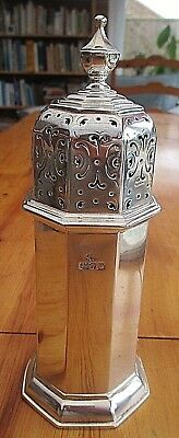 Rare Antique  Huge 10 Inch Solid Silver Sugar Shaker 290 Grms -H/m Chester 1922