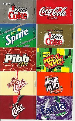 Lot of 10 New Assorted Coca Cola Vending Machine Button Labels