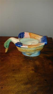 Very Good Handpainted Vintage Pre-1940's Japan Goose Planter