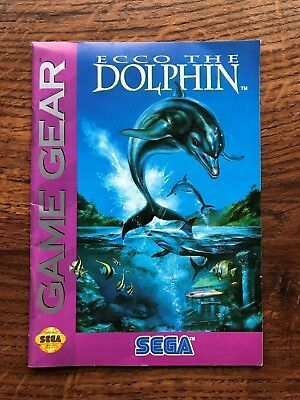 Ecco the Dolphin Sega Game Gear Instruction Manual Only