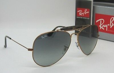 b748ab8782585 RAY BAN bronze grey gradient RB3029 197 71 OUTDOORSMAN II sunglasses NEW IN  BOX