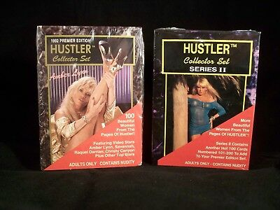 HUSTLER Series 1 & 2   Complete Trading Card Sets - SEALED  Adult Content