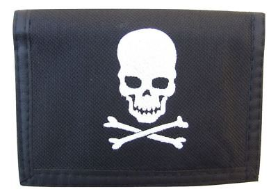 Pirate black Wallet with white skull & crossbones on the front