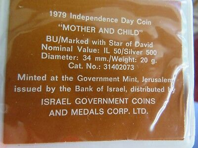 1979 Israel 50 Lirot Silver BU Independence Day Commem Coin in Holder