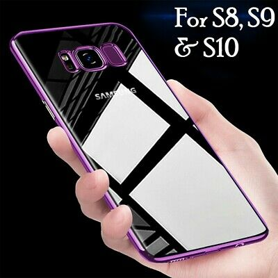 For Samsung Galaxy S8 S9 Plus Luxury Ultra Slim Shockproof Silicone Case Cover