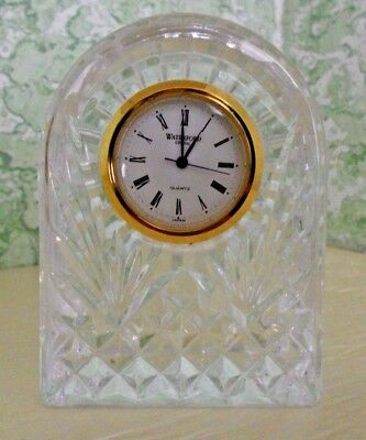 Waterford Ireland Signed Crystal Small Dome Quartz Clock Works Xtr Battery Inc