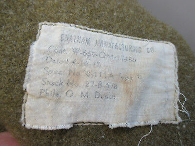 Lot of 2 Vintage Military Army Green Wool Blankets 64x76 Nice Condition