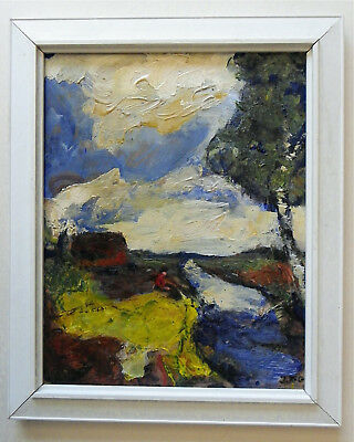"J.Rother-Glass*1956 Orig. Worpsweder Expressionist ""Landschaft""   sign./ Zertif."