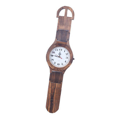 Antique Wooden Watch Wall Clock Decorative Wood Wall Clock Home Collection_M