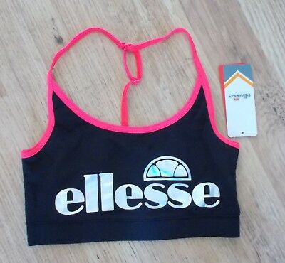 sports Bras Provided New Ellesse 2 Pack Womens Crop Tops Genuine ~ Size Uk Xs ~ *bnwt*