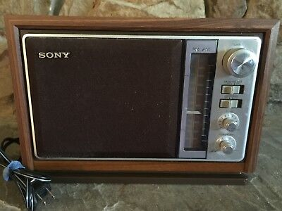 Collectible SONY AM FM Radio Model ICF-9740W Electric Table Top Radio Working