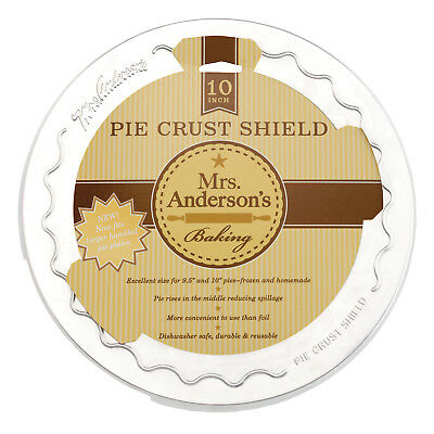 "Mrs. Anderson's 10"" Pie Crust Baking Shield Protector Apple Cherry Pumpkin New"