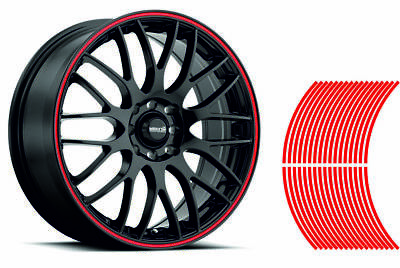 Wheel Striping Stripes Stickers Decals for Motorbike or Car *6mm* Red