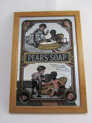 Vintage Pears Soap Advertising Mirror Sign Home Decor Bathroom Living Room Art