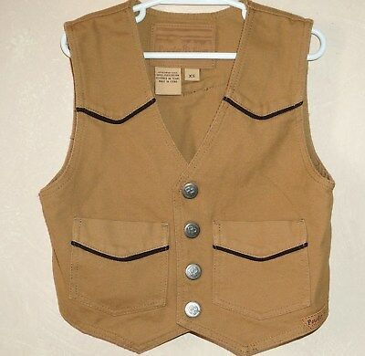 Panhandle Slim Boys XS Western Vest Brown by Powder RR River Outfitte