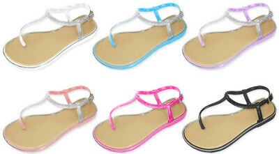 GIRL'S THONG SANDAL WITH GLITTER > (Lot of 36 Pairs)