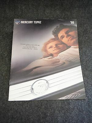 1986 Mercury Topaz Sales Brochure