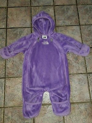 851111f01e8e MINT! THE NORTH FACE Baby Girl Winter Bunting Suit Fleece Snowsuit 0 ...