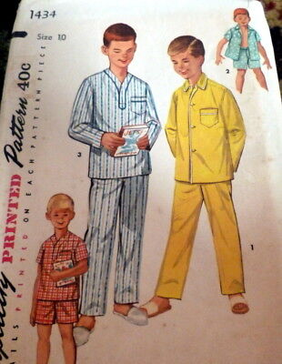 1f38d56dba  LOVELY VTG 1950s BOYS PAJAMAS Sewing Pattern 10