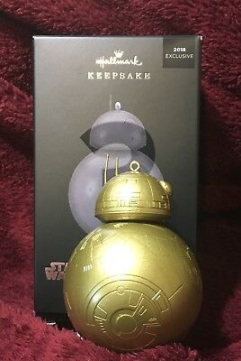 GOLD BB-8 Mystery Pop Minded Hallmark 2018 Exclusive STAR WARS Ornament Boxed