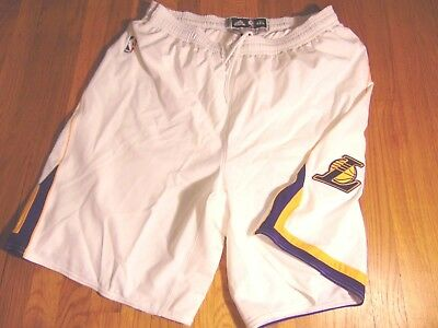 ADIDAS NBA AUTHENTIC Los Angeles Lakers White Light Weight Game Shorts  4Xl+2