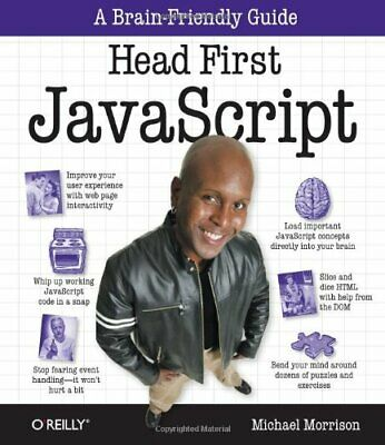 Head First JavaScript by Michael Morrison Paperback Book The Cheap Fast Free
