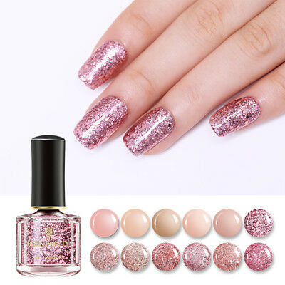 6ml BORN PRETTY Rose Gold Series Nail Polish Nude Pink Glitter Sequins Varnish