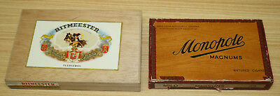 Wooden Tabacco Cigars Boxes - Monopole Magnums & Ritmeester Illustros