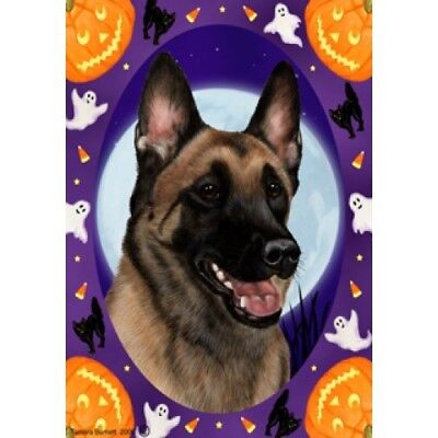 Garden Indoor/Outdoor Halloween Flag - Belgian Malinois 122511