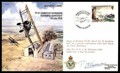 Sopwith Camel First Seaborne Landplane Bombing Jul 19 1984 Cachet On Raf Cover W