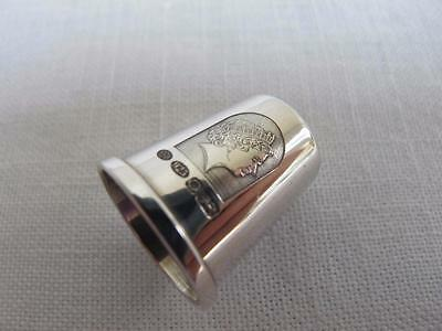 Vintage Commemorative H/m Sterling Silver Thimble - Queen's Golden Jubilee Mark