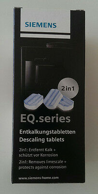 ORIGINAL SIEMENS   3  Entkalkungstabletten 2 in 1 TZ 80002   1 Packung