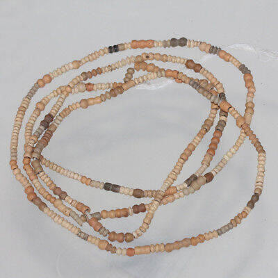 Superb , Ancient Egyptian Coptic Period Terracotta Beads Necklace 400-700 Ad