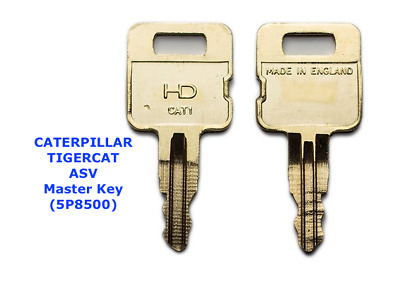 2 x CATERPILLAR CAT Master / Plant / Excavator / Digger Keys  + FAST FREE POST !