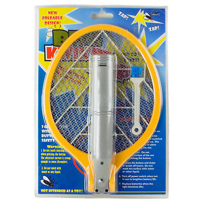 Foldable Handle Fly Swat Racket Bug Wasp Mosquito Killer Electric Swatter Zapper